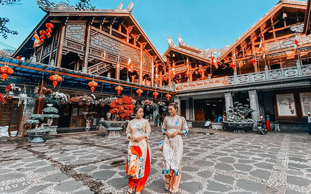 Nét kiến trúc độc đáo của chùa sắc tứ Khải Đoan Đắk Lắk